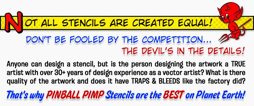 Pinball Pimp Pinball Cabinet StencilsPinball Pimp Stencils com