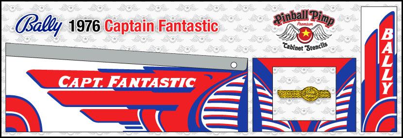 Fantastic PINBALL CABINET STENCILS  • • Pinball Pimp PREMIUM • • Bally Capt