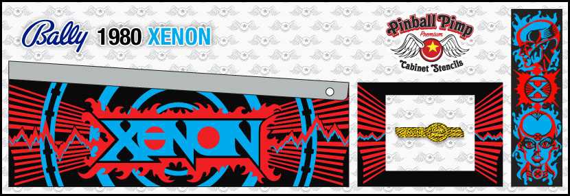 bally xenon pinball cabinet stencilspinball pimp stencils